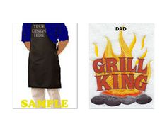 GRiLL KiNg Apron Men's Apron Father's Day by CraftyWorldPlusbyShy, $24.99