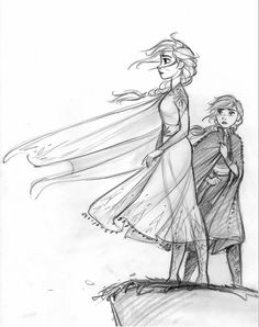 Frozen 2 is here finally! So much fun to draw. - cosmoanimato CosmoAnimato - Frozen 2 is here fin Art Disney, Disney Concept Art, Disney Kunst, Disney Nerd, Disney Style, Disney Sketches, Disney Drawings, Art Drawings, Disney Princess Sketches