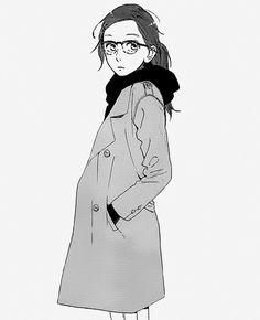 Hirunaka no Ryuusei - Suzume Yosano. She looks so smart pretty here. Manga Love, Manga Girl, Chica Anime Manga, Anime Art, Daytime Shooting Star, Mamura Daiki, Hirunaka No Ryuusei, Manga Drawing Tutorials, Manga Pictures