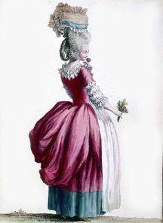 1770s fashion plate - I love the colours