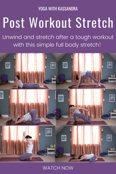 Unwind and stretch after a tough workout with this simple full body workout cool down stretch! In this 10 minute post workout yoga stretch class, you'll relieve tension and gently stretch your whole body. Practice this yoga class and hundreds more on our yoga YouTube channel! Yoga for Flexibility | Yoga fitness | at home workout | free online yoga workout Youtube Workout Videos, Yoga Youtube, Flexibility Routine, Yoga For Flexibility, Cool Down Stretches, Post Workout Stretches, Full Body Stretch, Yoga For Stress Relief, Online Yoga Classes