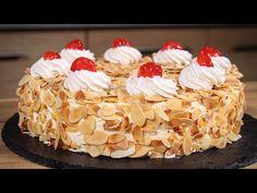 Κλασική Τούρτα Αμυγδάλου (Συνταγή Ζαχαροπλαστείου) - Almond Mousse Cake - YouTube Greek Desserts, Greek Recipes, Pie, Easter, Sweets, Breakfast, Youtube, Cakes, Food