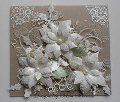 Selma's Stamping Corner: Christmas Poinsettias in White