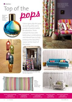 ~ Top of the pops ~ A bold and bright look for the new season... #interiors #inspiration #pop #colours #Farnham #Surrey