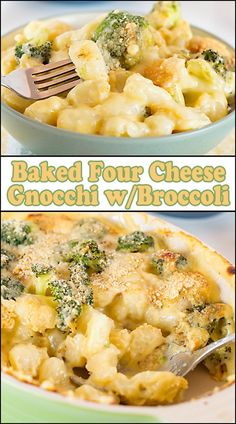 Baked Four Cheese Gnocchi w/ Broccoli - Joy In Every Season Gnocchi Recipes, Pasta Recipes, Dinner Recipes, Cooking Recipes, Noodle Recipes, Yummy Recipes, Dinner Ideas, Recipies, Kitchens