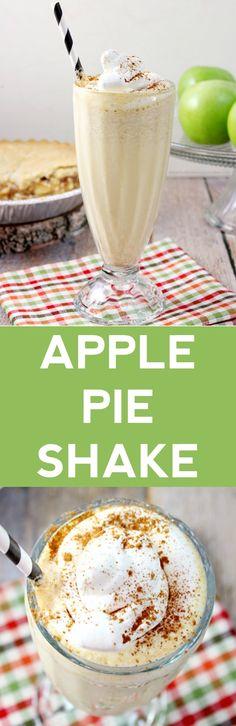Apple Pie Milkshake Take that last slice of apple pie and turn it into something even more amazing! This Apple Pie Milkshake is the perfect fall treat! Milk Shakes, Smoothie Drinks, Smoothie Recipes, Milkshake Drink, Apple Recipes, Fall Recipes, Yummy Drinks, Yummy Food, Parfait