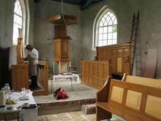 At work at Church Dorkwerd. www.lutgielen.nl