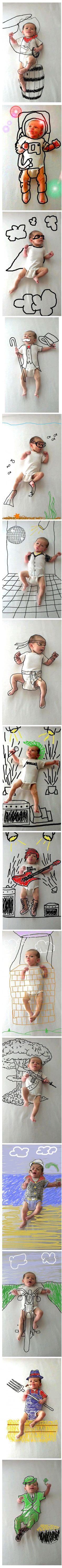 Las aventuras de un recién nacido por Amber Wheeler.