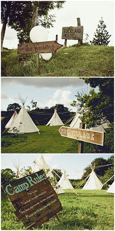 This is pretty much how our wedding will be... including camping for guests...