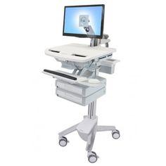 Carro medico StyleView con brazo para pantalla LCD y 2 cajones (1x2) Pantalla Sistema de cajones con autocierre: gestión de los medicamentos simple y eficiente en el lugar de atención de los pacientes que reduce la posibilidad de errores; el sistema de seguridad almacena PIN para un máximo de 1.000 usuarios con el programa de software (100 usuarios son StyleLink) El sistema de cajones también es compatible con el «modo farmacia», permitiendo que todos los cajones se desbloqueen…