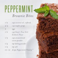 I love peppermint essential oil and I love brownies… can't go wrong with this awesome recipe from Young Living! Get your kit and start making lots of yummy oil infused recipes. Source by bellcalis Healthy Cooking, Cooking Recipes, Healthy Recipes, Cooking Bacon, Healthy Drinks, Cooking Steak, Kitchen Recipes, Healthy Eats, Yummy Recipes