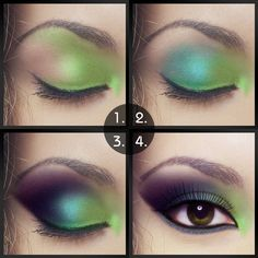 Dramatic Arabian Peacock Eye makeup