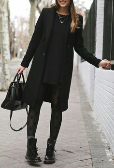 A wonderful look for the cold winter days in black