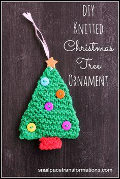 DIY Knitted Christmas Tree Onrnament