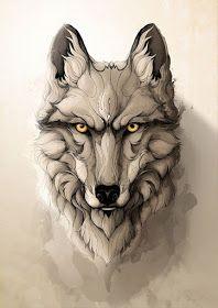 by rafapasta cg metal posters art wölfe tattoo Wolf Tattoos, Animal Tattoos, Metal Animal, Animal Drawings, Art Drawings, Wolf Tattoo Design, Wolf Design, Nature Posters, Animal Posters