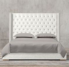 Adler Shelter Diamond-Tufted Fabric Bed With Nailheads