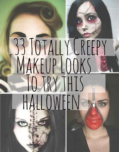 33 Totally Creepy Makeup Looks To Try This Halloween...The broken doll looks awesome!