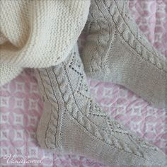 Ravelry: Designs by Marianne Heikkinen Warm Socks, One Color, Colour, Knitting Socks, Sock Shoes, Cosy, Ravelry, Combat Boots, Slippers