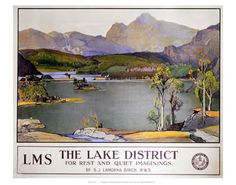 The lake district LMS on VintageRailPosters.co.uk Prints