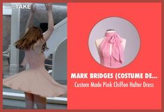 Mark Bridges (Costume Designer) Custom Made Pink Chiffon Halter Dress as seen on…
