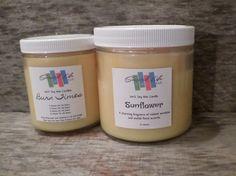 Sunflower Candle, Large Candle, Soy Candle, Eco Candle, Candles, Scented Candle, Container Candle, Recyclable Container Candles, Gift Ideas by ScentedLife on Etsy