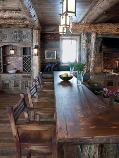 Rustic Kitchen Ideas - Surf pictures of rustic kitchen styles. Discover motivation for your mountain design kitchen remodel or upgrade with ideas for storage, organization, layout and . Küchen Design, Interior Design, Design Ideas, Bar Designs, Rustic Design, Best Kitchen Countertops, Countertop Options, Wood Countertops, Wood Cabinets