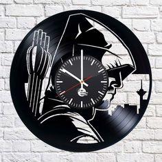 Arrow series HANDMADE vinyl record modern vintage unique  decorative wall clock #Handmade #vintagerecords