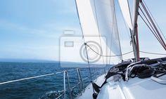 Fototapeta jacht - przygoda - niebieski - rejs • PIXERS.pl