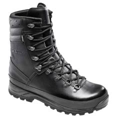 The Lowa Boots Combat GTX are considered one of the best military and police boots on the market today. If you are familiar with the other boots in the Lowa range, these boots are made with a higher leg shaft than the Mountain or the Patrol to give your lower leg and ankle more support and protection in difficult terrain.