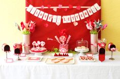 Valentine's Display table