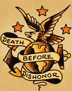 """sailor jerry """"death before dishonor"""""""