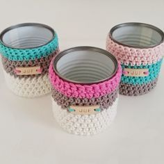 Decorative covers for re-purposed tin cans. Love this B-Joy AKA Misty quilts