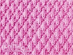 Simple Knit & Purl stitch pattern. The Seersucker stitch is great stitch for beginners to start to learn knitting. That looks great!