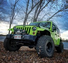 Jeep Jk, Jeep Truck, Lifted Jeep Cherokee, Green Jeep, Jeep Wranglers, Jeep Life, Classic Cars, Monster Trucks, Lime