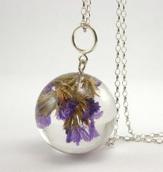 superawesomeshop:  Real Flower and Resin Jewellery by Sylwia...