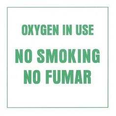 "Westmed Oxygen in Use No Smoking Sign  7x7 Inch Paper Oxygen in Use No Smoking"" ""No Fumar"" Sign. "" Features : 7x7 Inch Paper Oxygen in Use No Smoking"" ""No Fumar"" Sign. """