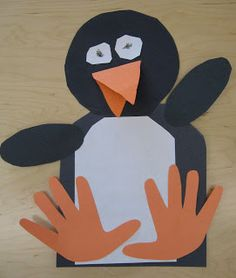 Handprint Penguin Pattern