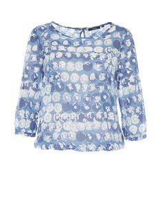 Printbluse blau online kaufen   Fu aqua easy blue