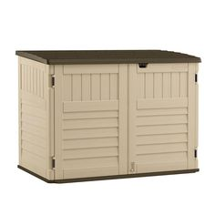 The Suncast Garden Sheds provide perfect storage solutions for the overflow of household and outdoor items as well as garden tending equipment. They are made of weather resistant, durable, high impact Polypropylene Resin which includes a special UV Sun Pr Plastic Sheds, Cheap Sheds, Build Your Own Shed, Outside Storage, Stow Away, Shed Plans, Outdoor Furniture, Outdoor Decor, Storage Solutions
