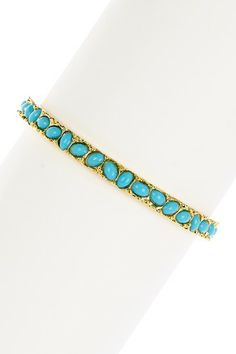Faceted Turquoise Stone Bangle by Kenneth Jay Lane on @HauteLook