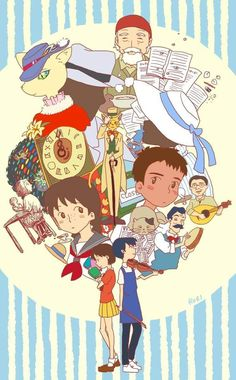 Fanart - studio ghibli, whisper of the heart Studio Ghibli Art, Studio Ghibli Movies, Wallpaper Animes, Animes Wallpapers, Hayao Miyazaki, Manga Anime, Grave Of The Fireflies, The Cat Returns, Howls Moving Castle