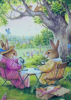Party Illustration Susan Wheeler Ideas For 2019 Susan Wheeler, Art And Illustration, Illustrations, Rabbit Illustration, Beatrix Potter, Rabbit Art, Bunny Rabbit, Bunny Art, Tea Art
