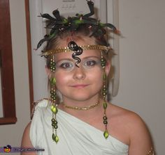 how to make a puppetteerable medusa headpiece and costume how to make costumes and as - Medusa Halloween Costume Kids