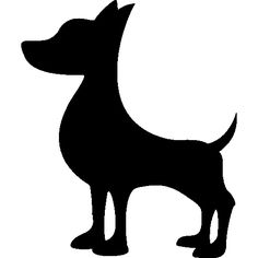 silhouette de chien de dessin 03 d coupe cameo pinterest silhouette de chien dessins et. Black Bedroom Furniture Sets. Home Design Ideas