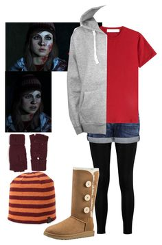 """Ashley - Until Dawn"" by j-j-fandoms ❤ liked on Polyvore featuring Boohoo, Citizens of Humanity, dVb Victoria Beckham, WearAll, UGG, Dorothy Perkins, Original Penguin, horror, videogame and untildawn"