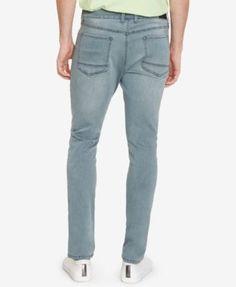 Kenneth Cole New York Men's Skinny-Fit Stretch Sulphur Blue Jeans - Blue 32x32
