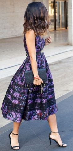 #fall #thistimetomorrow #outfits   Purple Midi Dress
