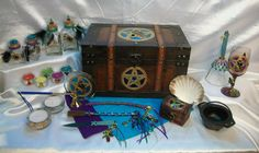 Pagan Altar Set   Custom Crafted Example:  Ravens & Pentacles