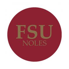"""Florida State University 1-1/2"""" Round Labels - Free Shipping. Use these semi-gloss circle labels to seal envelopes or as an eye catching touch to demonstration your school pride. GO NOLES!"""