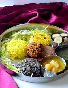 "10 'Thalis' From Around India That Will Take You To Food Heaven. People from Meghalaya like boiled veggies a lot as they are considered to be very healthy. Puklein is another delicious snack available all over Meghalaya. Black sesame is used in almost very dish. For example, the special dal, ""daineiiong"" is incomplete without it."